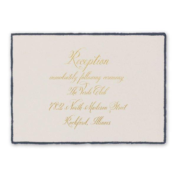 Feathered Edge Foil Reception Card