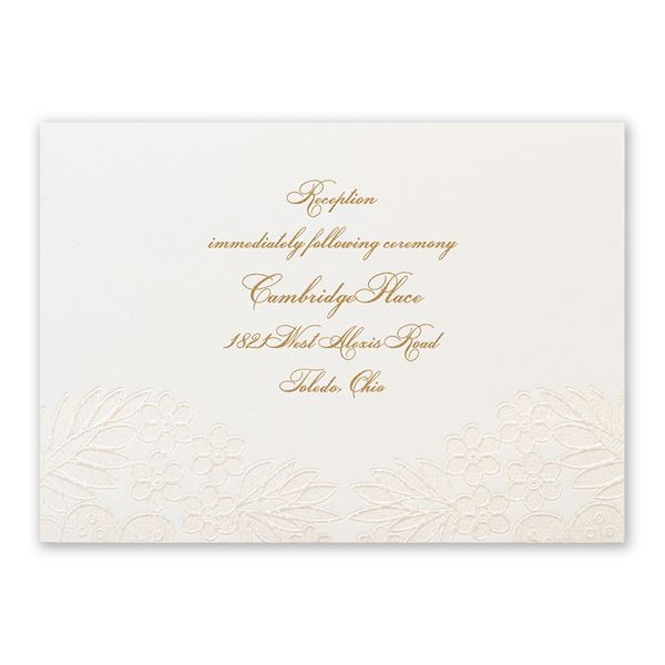 Lace and Luxury Reception Card