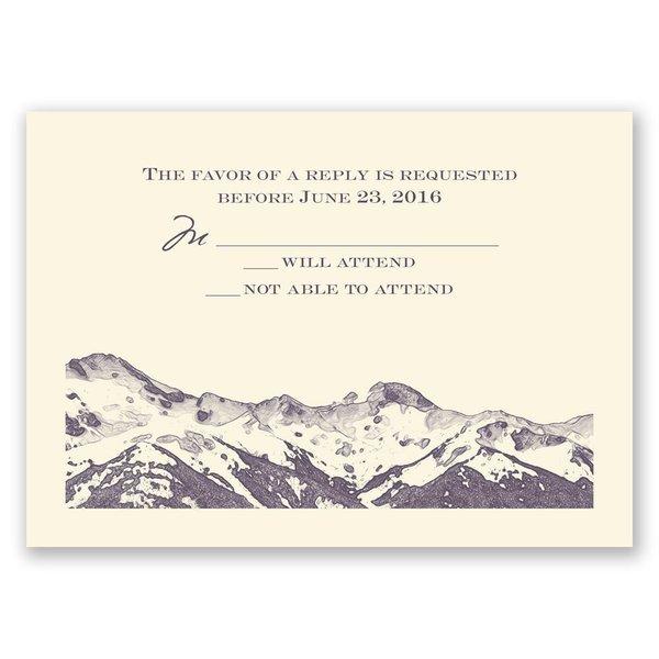 Watercolor Mountain - Ecru - Response Card