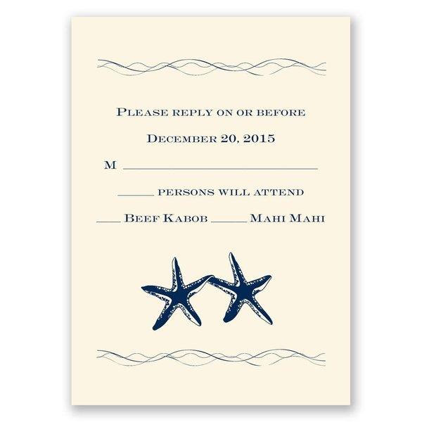 Sweet Starfish - Ecru - Response Card