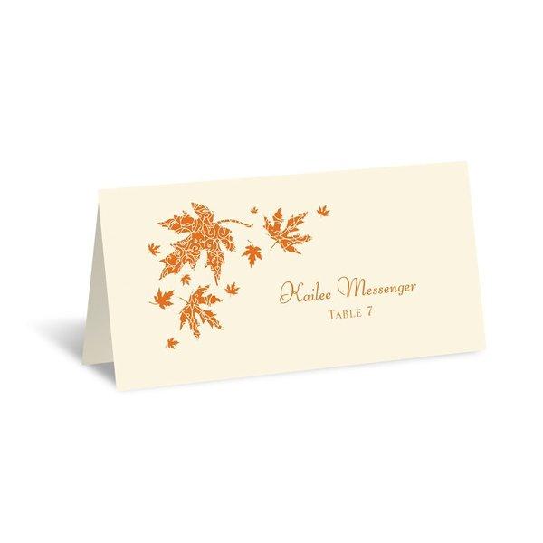 Graceful Leaves - Ecru - Escort Card