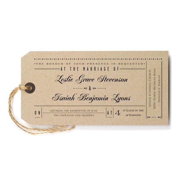 Just the Ticket Invitation