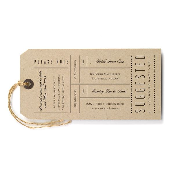 Just the Ticket Accommodations Card