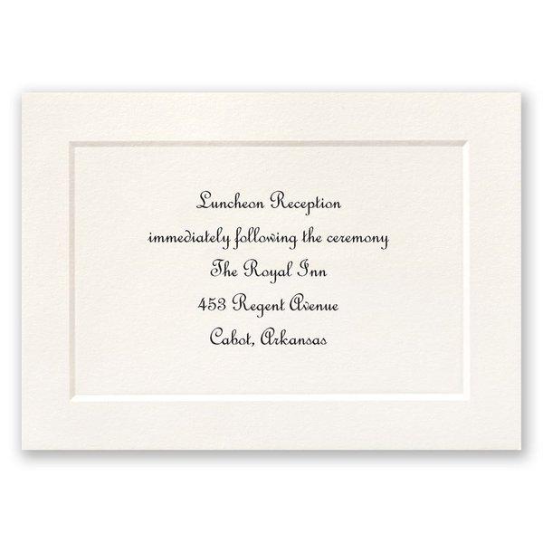 Tradition Triumphs Reception Card