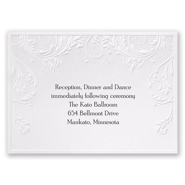Shaded Grey Reception Card