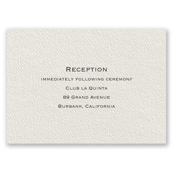 Textured Ecru Reception Card