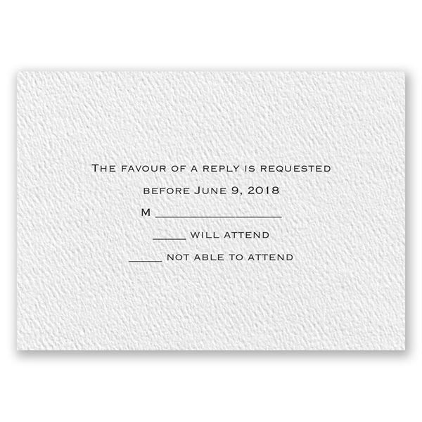 Textured White Response Card