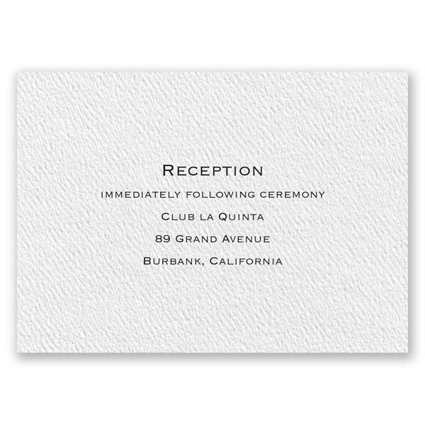 Textured White Reception Card