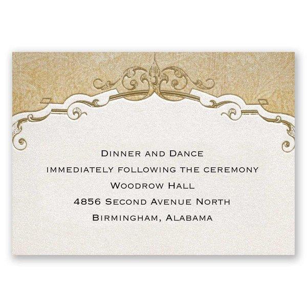 Antique Floral Reception Card