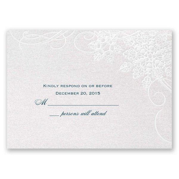 "Winter""s Kisses Response Card"