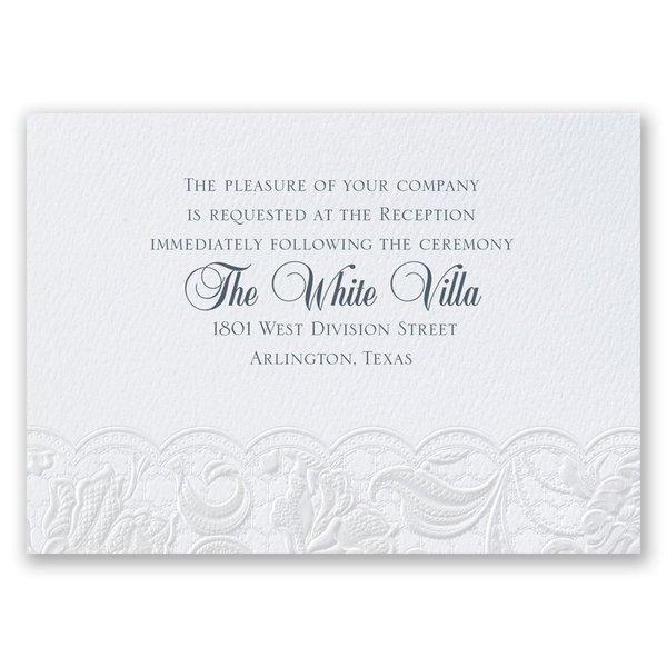 Pearl Vines - Reception Card