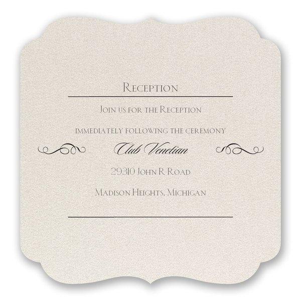 Contoured Elegance Reception Card
