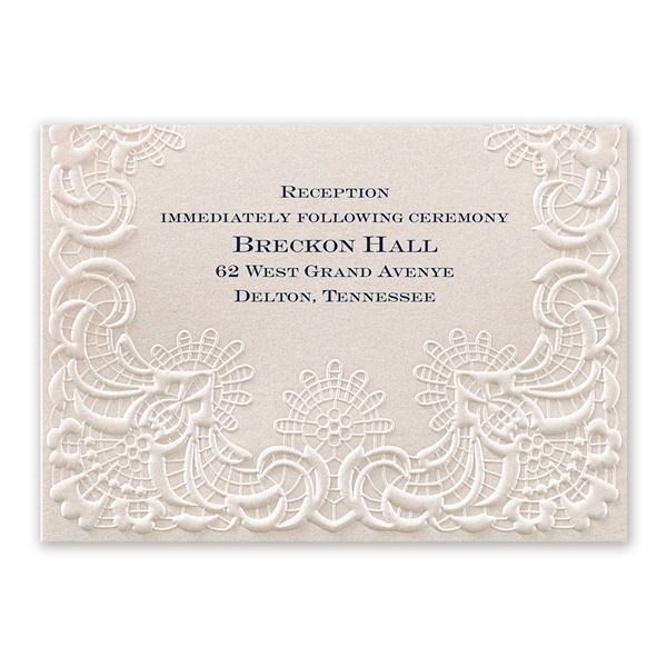 Simply Radiant Reception Card
