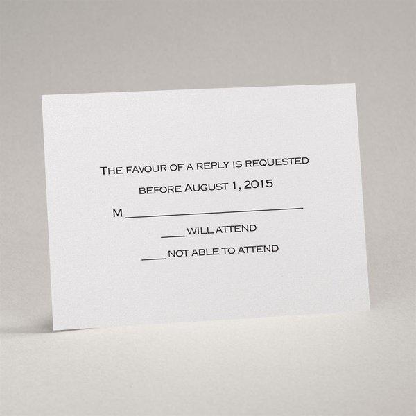White Shimmer Response Card and Envelope