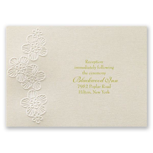 Abundant Beauty Reception Card