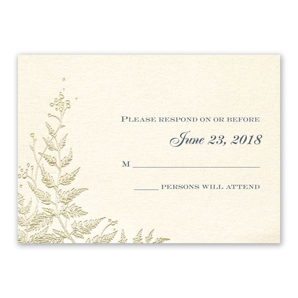 Ferns of Gold Response Card