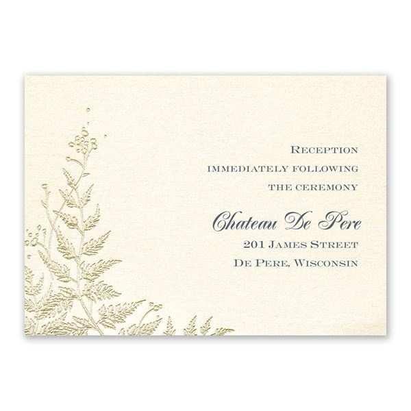 Ferns of Gold Reception Card