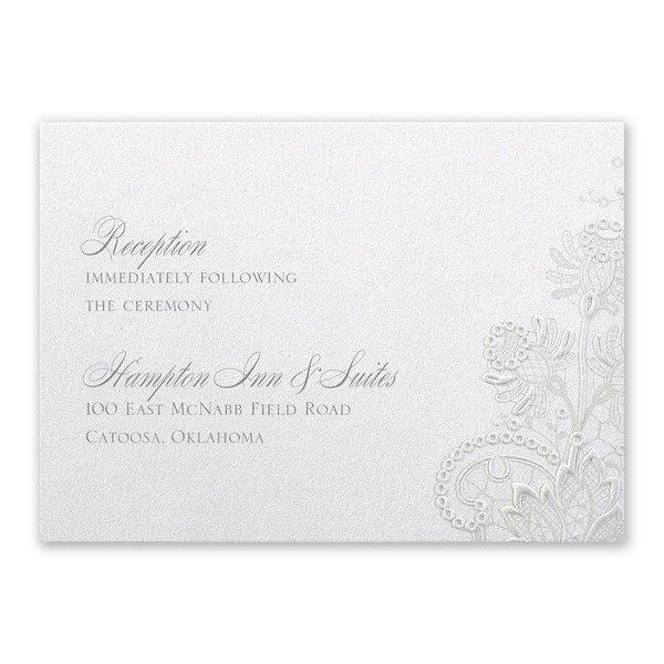 Exquisite Reception Card