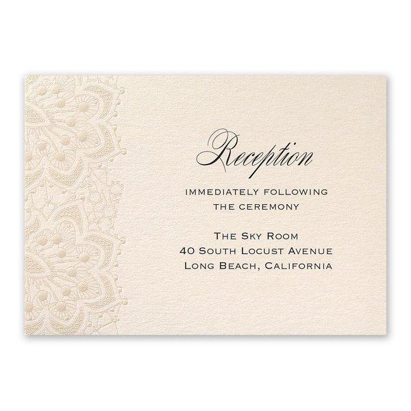 Mandala Lace Reception Card