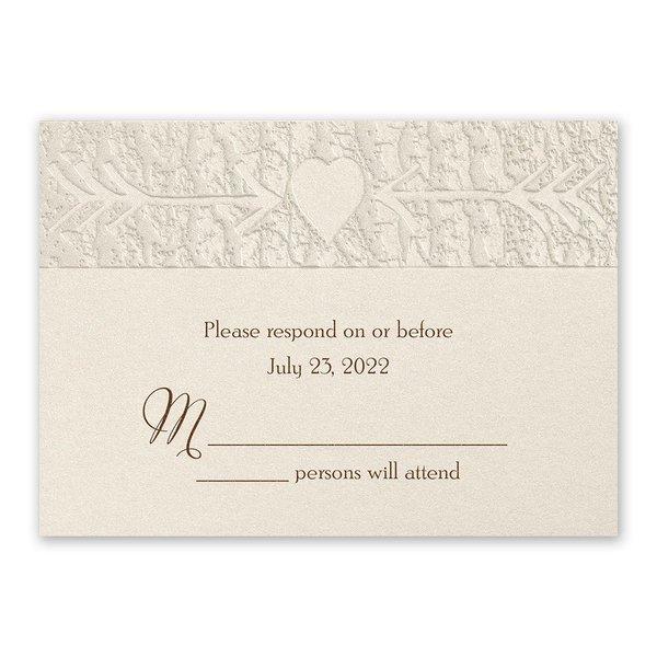 Carved Elegance Response Card and Envelope