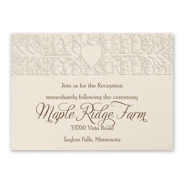 Carved Elegance Reception Card