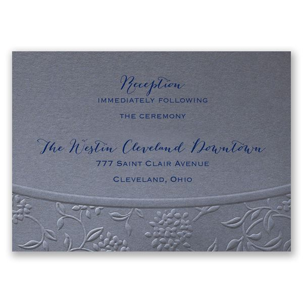 Floral Gateway Reception Card