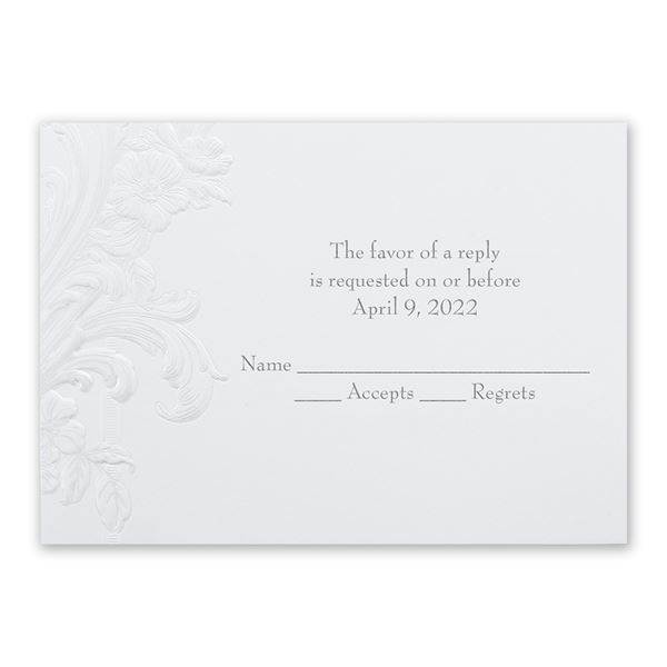 Sweeping Flourishes Response Card and Envelope