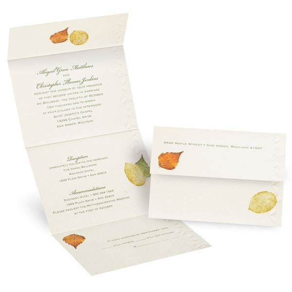 Touch of Autumn Seal and Send Invitation