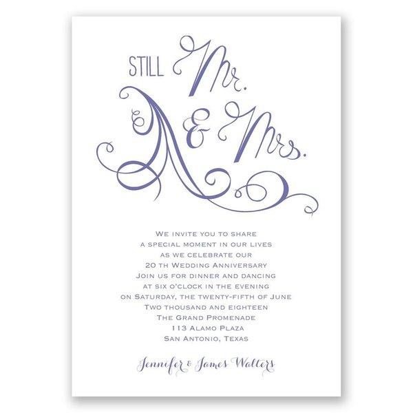 Still Mr. and Mrs. Anniversary Invitation