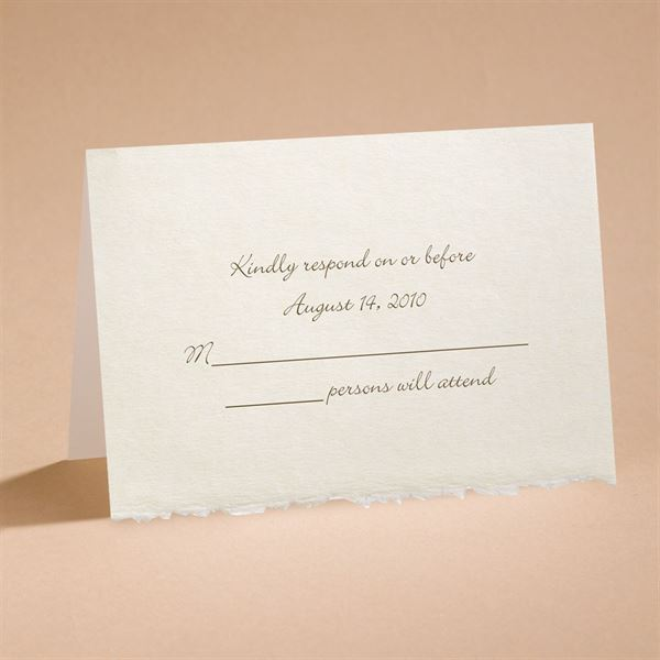 Ecru Deckle Edge Respond Card and Envelope