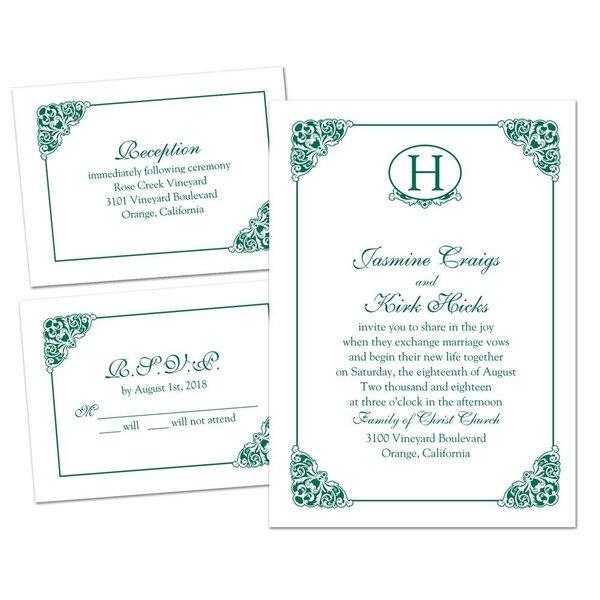 Elegant Finish - 3 for 1 Invitation