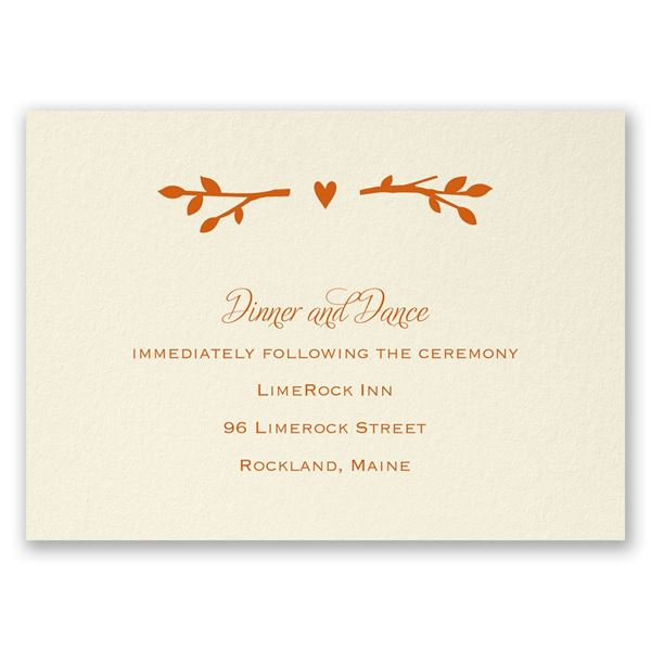 In the Grove - Reception Card