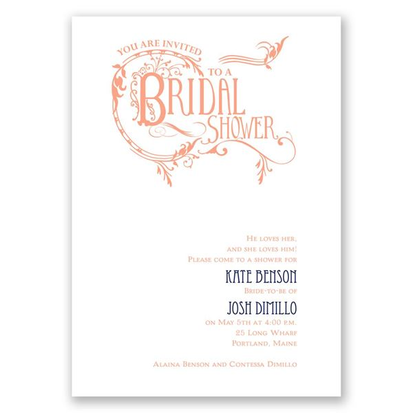 Fabulous Flourish Bridal Shower Invitation