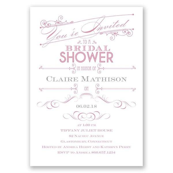 Elegant Intro Bridal Shower Invitation