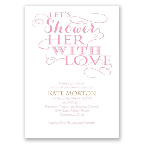 With Love Bridal Shower Invitation