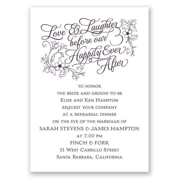 Love & Laughter Mini Rehearsal Dinner Invitation