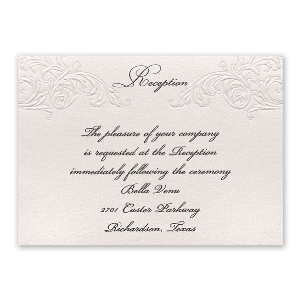 Elegance and Grace Reception Card