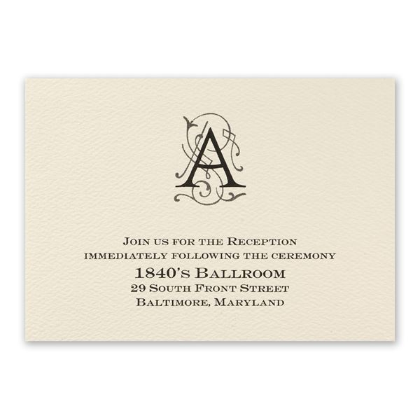 Luxe Details Reception Card