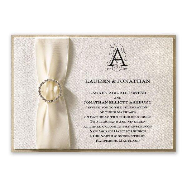 Luxe Details Horizontal Invitation