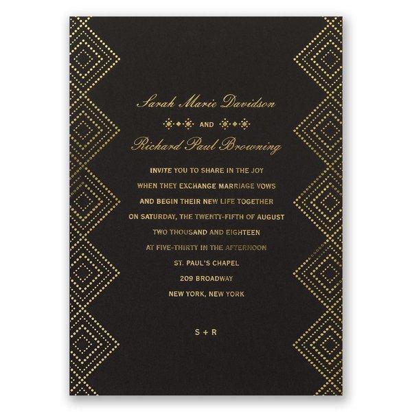 Modern Deco Foil Invitation