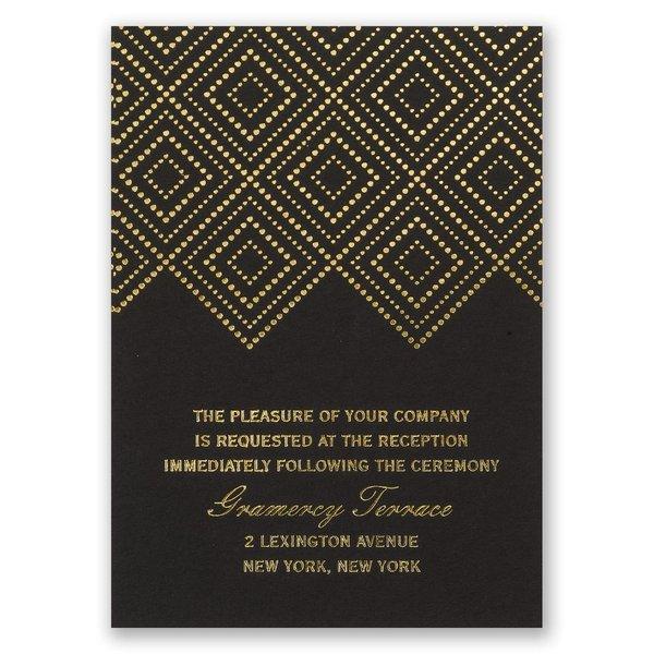 Modern Deco Foil Reception Card