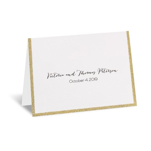 Golden Glow Thank You Card