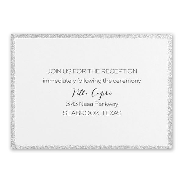Silver Sparkle Reception Card