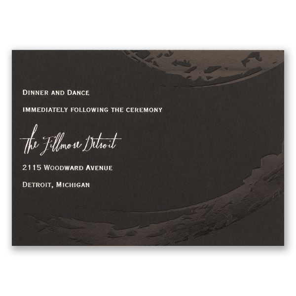 Bold & Refined Foil Reception Card