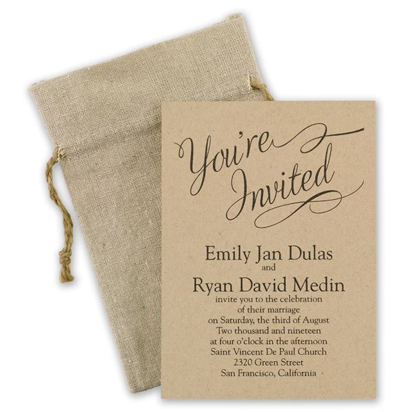 Beautifully Krafted Invitation
