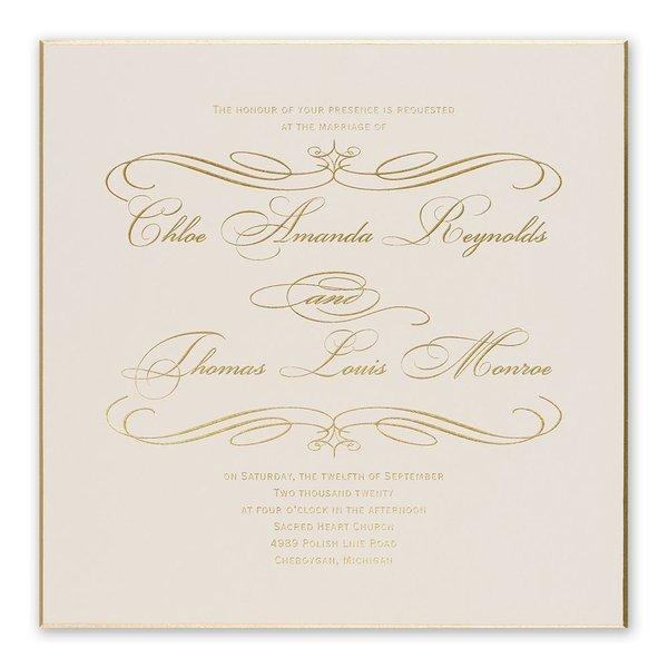 Gold Finish Foil Invitation
