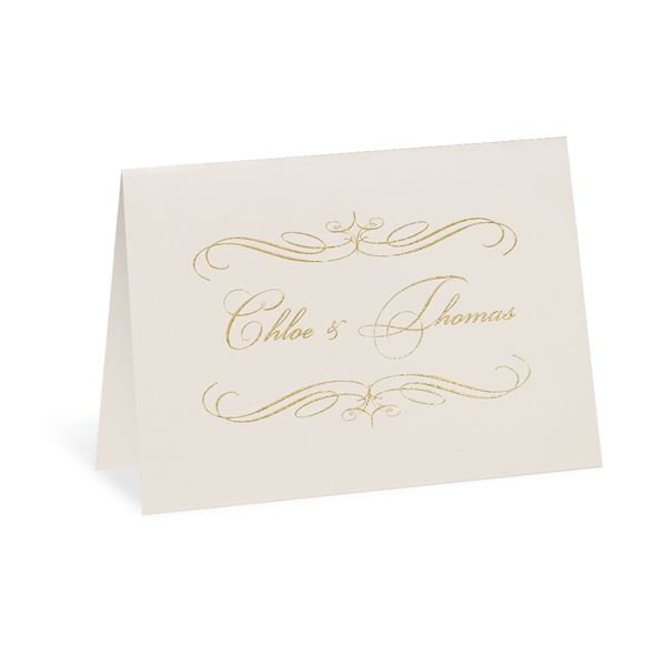 Gold Finish Foil Thank You Card