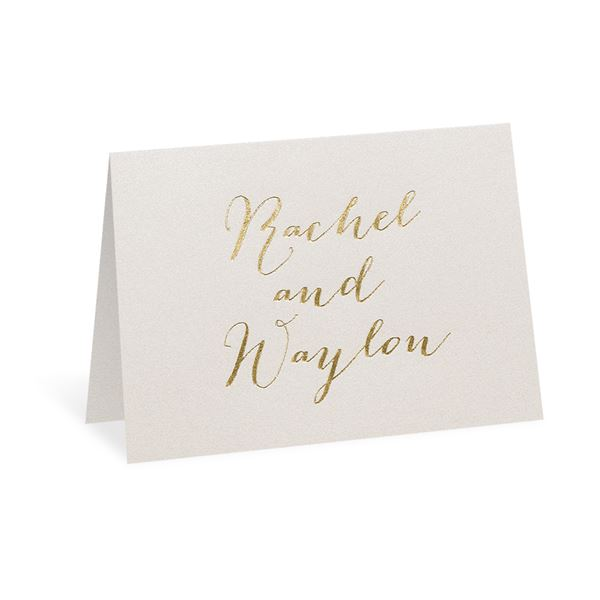 Signature Style Ecru Shimmer Foil Thank You Card
