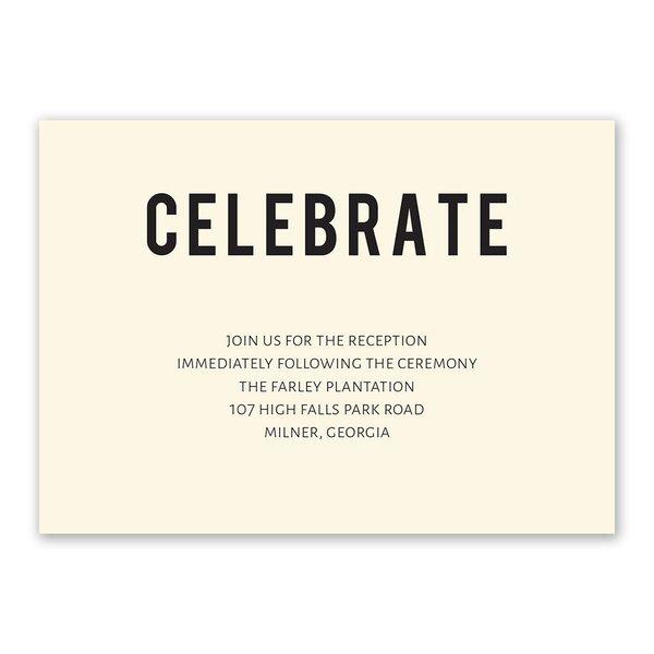 Forever Brilliant Reception Card