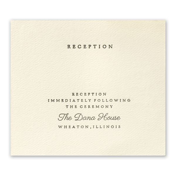 Modern Sophistication Reception Card